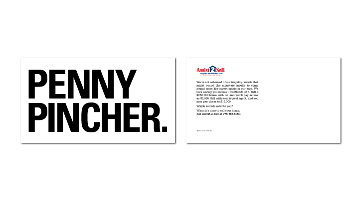 Penny Pincher Direct Mail for Assist-2-Sell by Stan Can Design