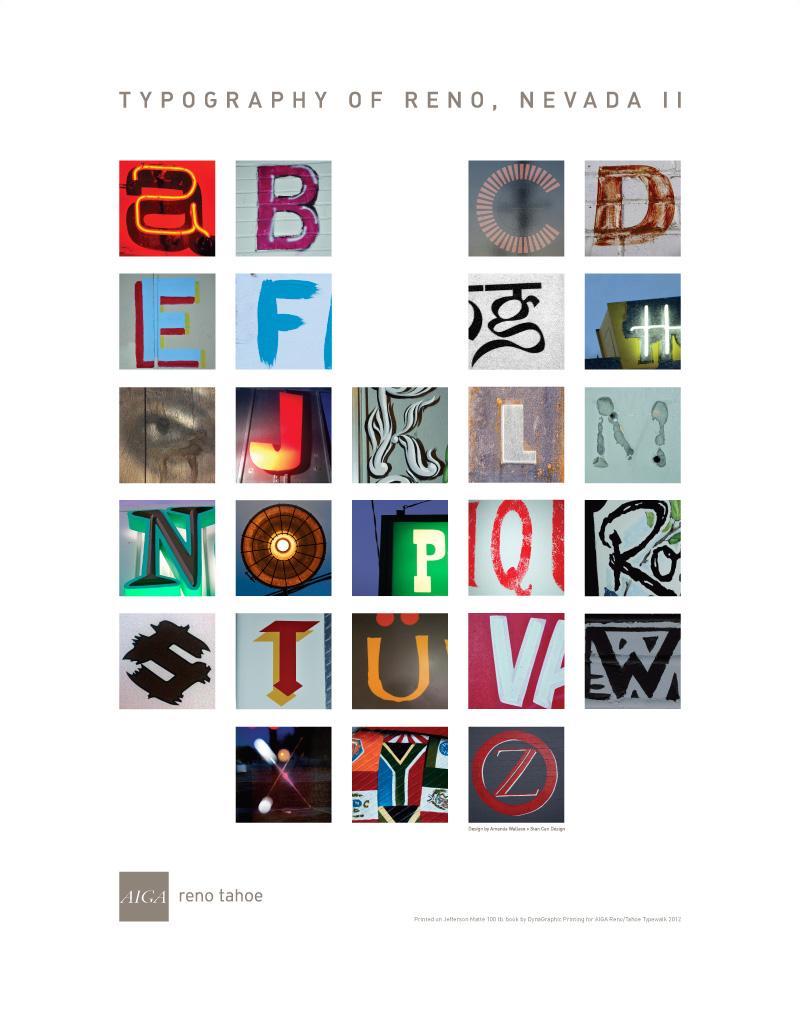 AIGA Type Walk 2013 Poster