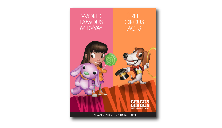 Susie Dog Print Ad for Circus Circus Reno by Stan Can Design