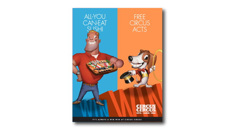 Chuck and Milo for Circus Circus Reno by Stan Can Design