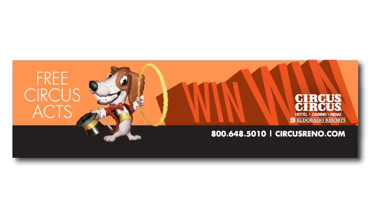 Milo Outdoor Ad for Circus Circus Reno by Stan Can Design