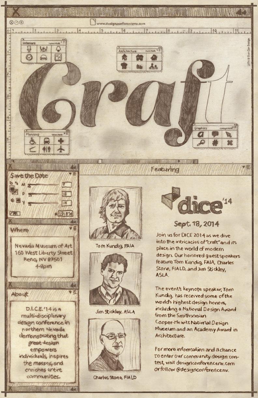 DICE 14 Craft Poster