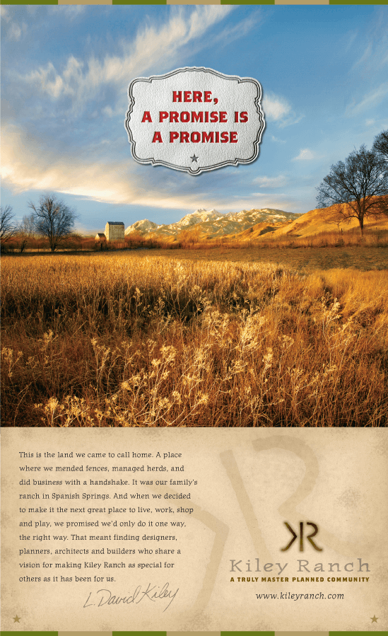 Kiley Ranch Print Ad by Stan Can Design