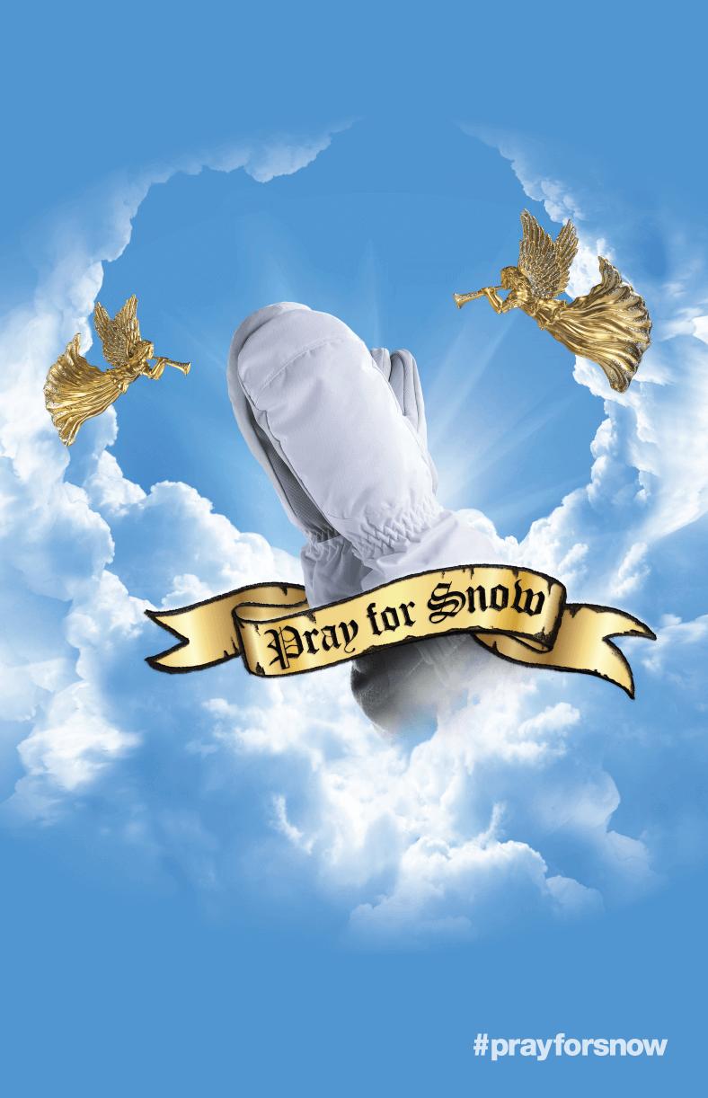 Pray For Snow Logo Poster