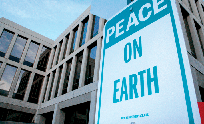 Peace on Earth Sign by Stan Can Design