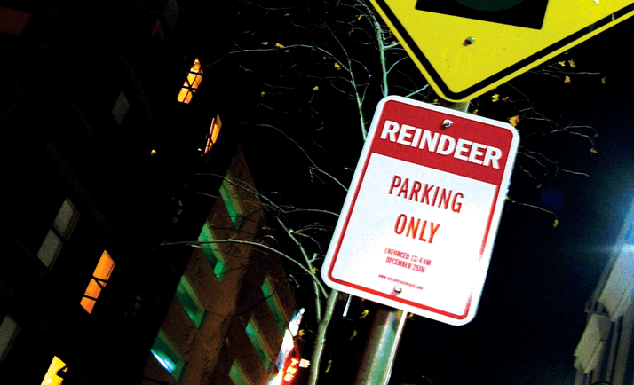 Reindeer Parking Sign by Stan Can Design