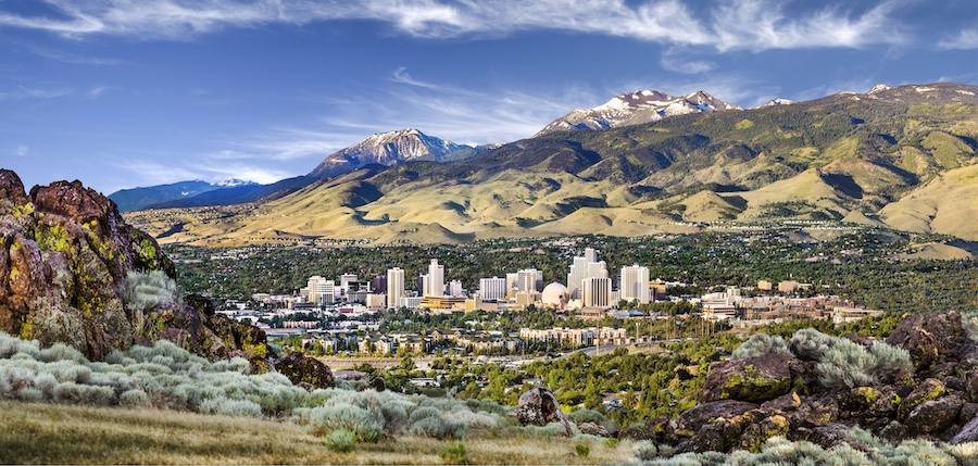 Reno Tahoe skyline photograph